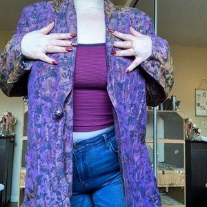 Jackets & Blazers - Vintage patterned blazer